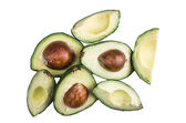 Avocatto on a white background — Stock Photo