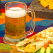 Beer and burrito — Stock Photo #46142519