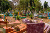 Central american colorful graveyard, El Salvador — Foto Stock