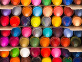 Multicolored crayons closeup — Stock Photo
