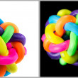 Colorful rubber knot ball — Stock Photo