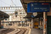 Bahnhof genf-flughafen — Stockfoto