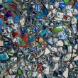 The wall made of pieces of Iznik pottery — Stock Photo