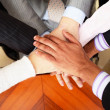 Stock Photo: Image of business hands on top of each other