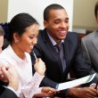 Multi ethnic business team at a meeting — Stock Photo