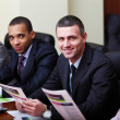 Multi ethnic business team at a meeting. — Stock Photo