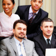 Portrait of a multi ethnic business team — Stock Photo