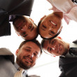 Mixed businessteam - Foto Stock