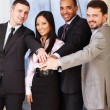 Portrait of a multi ethnic business team. - Stock Photo