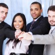 Multi-ethnic business group in office - Stock Photo