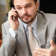 Portrait of a mature business man on phone — Stock Photo