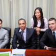 Stock Photo: Multi-ethnic business group in office