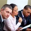 Multi ethnic business team — Foto Stock