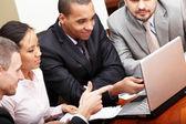 Multi ethnic business team — Stock Photo