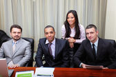 Multi-ethnic business group in office — Stock Photo