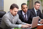 Diverse businessgroup at meeting — Stock Photo