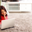 Young woman with laptop — Stock Photo #25728731