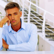 Handsome pensive man — Stock Photo #30023099
