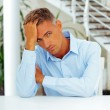 Handsome pensive man — Stock Photo