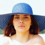 Beautiful woman in hat — Stock Photo #30023627