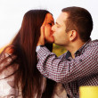 Romantic couple kissing — Stock Photo