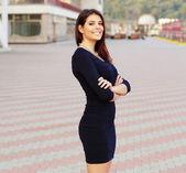 Confident happy businesswoman — Stock Photo