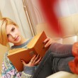 Woman reading book — Stock Photo #36197563