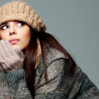 Woman in warm winter outfit — Stock Photo #38413483