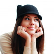 Woman in cute hat — Stock Photo #39386911