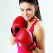 Woman boxing — Stock Photo #40605947