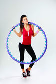 Woman with massage hoop — Foto Stock