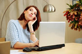 Portrait of a middle-aged woman — Stock Photo