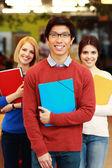 šťastný skupina studentů — Stock fotografie