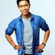 Young handsome asian man in glasses — Stock Photo #47014165