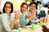 Happy group of coworkers — Stock Photo