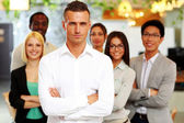 Handsome group of a businesspeople — Stock Photo