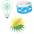 Green Energy Icon Set — Stock Vector #14534409