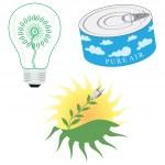 Green Energy Icon Set — Stock Vector #14534409