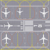 Luchthaven lay-out — Stockvector