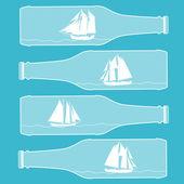Ships in bottles — Stock Vector