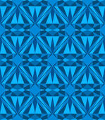 Blue diamond seamless pattern — Stock Vector