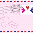 Envelope for Valentine Day — Grafika wektorowa