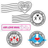 Valentine Love Stamp — Stockvektor