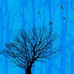 Birds and tree — Stock Vector