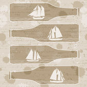 Ships in bottles — Stock Vector