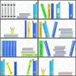 Stock Vector: Bookshelf