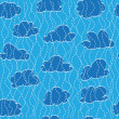 Vector de stock : Sky, cloud and rain