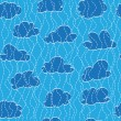 Sky, cloud and rain — Vector de stock #19822413