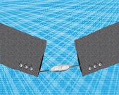 USB handshake — Stock Vector