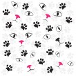 Royalty-Free Stock Vector Image: Cat paw and face